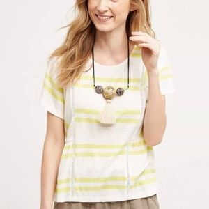 Anthro Postmark Hitched Striped Top